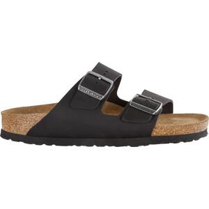 Birkenstock Arizona Sandals Oiled Leather Narrow, musta musta