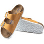 Birkenstock Arizona Sandalen Nubuk Leder Weiches Fußbett Schmal Damen orange