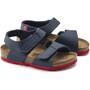 Birkenstock Palu Logo Sandals Birko-Flor Narrow Kids, bleu/rouge