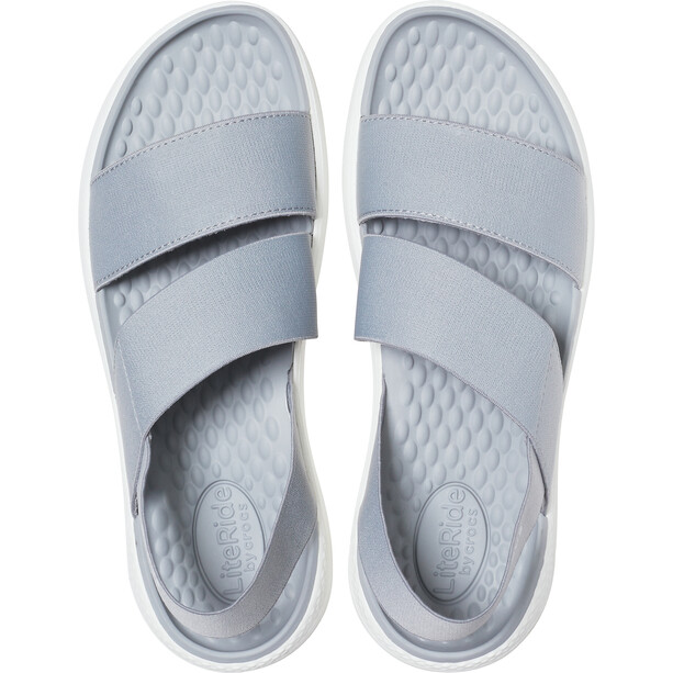 Crocs LiteRide Stretch Sandalen Damen light grey/white