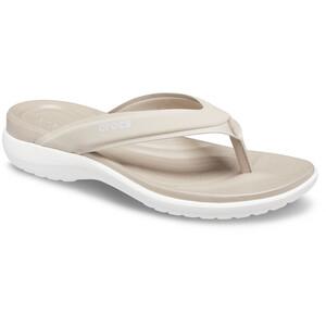 Crocs Capri V Sporty Flips Women, beige/blanc beige/blanc