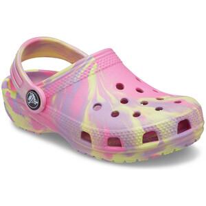 Crocs Classic Marbled Clogs Kids pink lemonade/multi pink lemonade/multi