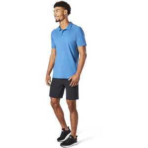 Smartwool Merino Sport 150 Poloshirt Herren light neptune blue heather light neptune blue heather