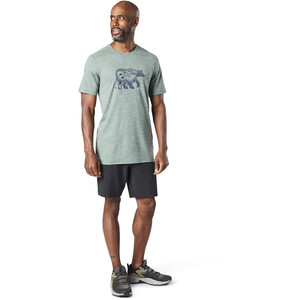 Smartwool Merino Sport 150 Shirt Bear Camp Graphic Herren sage heather sage heather