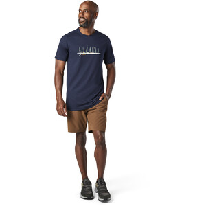 Smartwool Merino Sport 150 Shirt Camping with Friends Graphic Herren deep navy deep navy