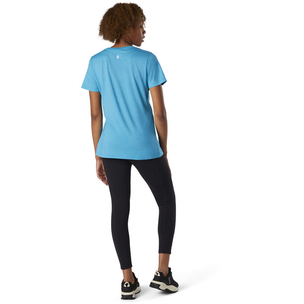 Smartwool Merino Sport 150 Shirt Camping with Friends Graphic Women, bleu
