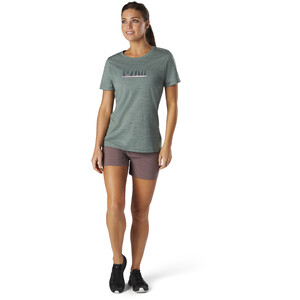 Smartwool Merino Sport 150 Shirt Camping with Friends Graphic Damen sage heather sage heather