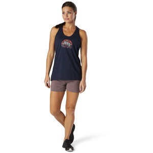 Smartwool Merino Sport 150 Shirt Go Far, Feel Good Graphic Damen deep navy deep navy