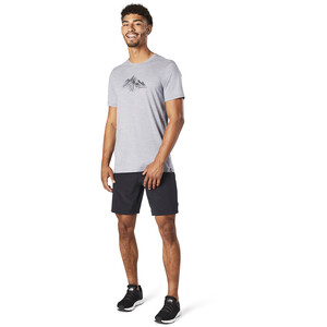 Smartwool Merino Sport 150 Shirt Rocky Range Graphic Herren light gray heather light gray heather