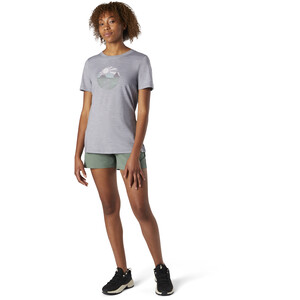 Smartwool Merino Sport 150 Shirt Sunset Stream Graphic Damen light gray heather light gray heather