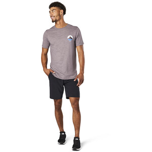Smartwool Merino Sport 150 Shirt Two Peaks Graphic Herren sparrow heather sparrow heather