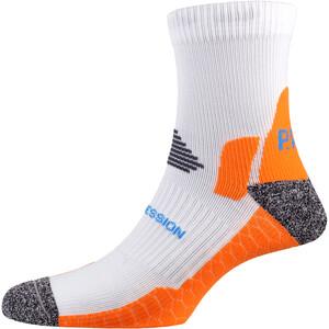 P.A.C. RN 6.0 Running Pro Mid Compression Socks Men, blanco/naranja blanco/naranja