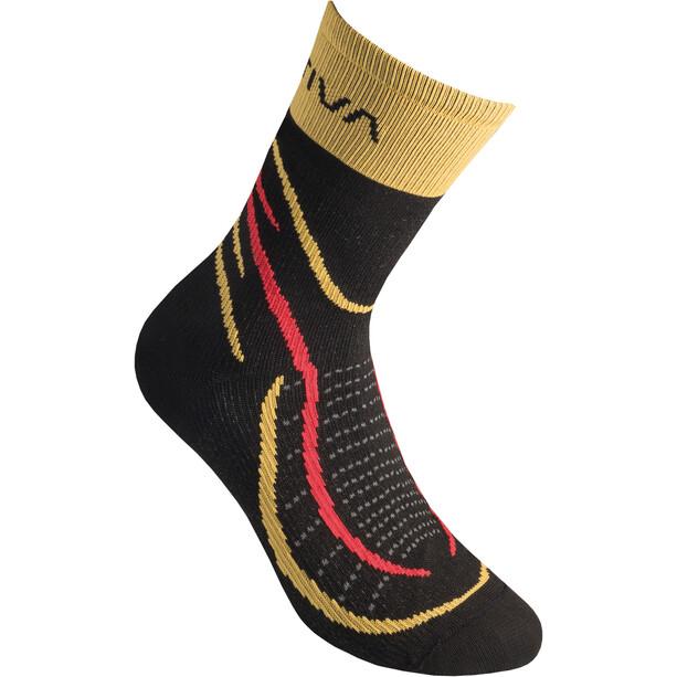 La Sportiva Sky Socks svart/gul