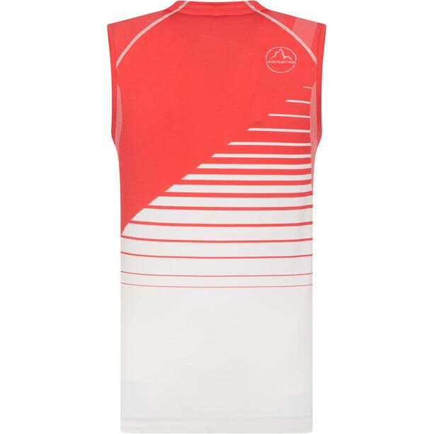 La Sportiva Runner Tank Women, hibiscus/white
