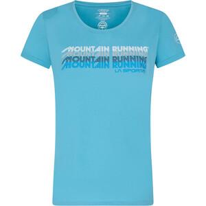 La Sportiva Mountain Running T-Shirt Women, azul azul