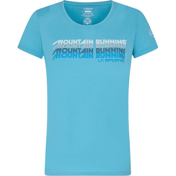 La Sportiva Mountain Running T-Shirt Damen blau