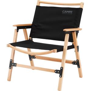 CAMPZ Comfort Beech Wood Folding Chair, negro/marrón negro/marrón