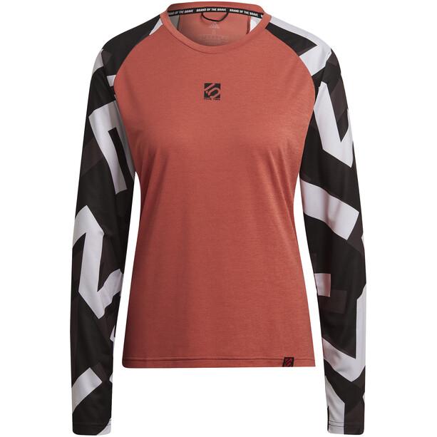 adidas Five Ten THE 5.10 Trail Langarm T-Shirt Damen orange/schwarz
