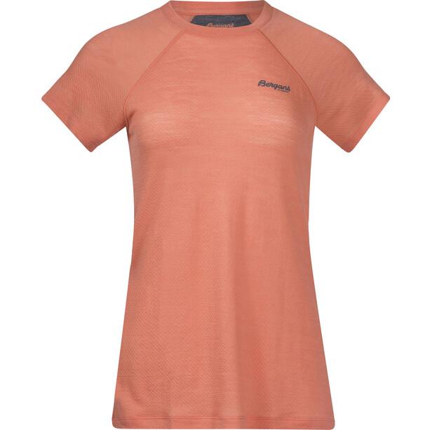 Bergans Fløyen Wool Kurzarmshirt Damen orange