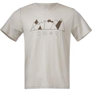 Bergans Graphic Wool T-Shirt Herren beige beige