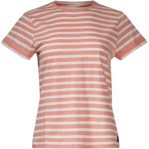 Bergans Oslo Re-Cotton Short Sleeve Shirt Women, naranja/blanco naranja/blanco