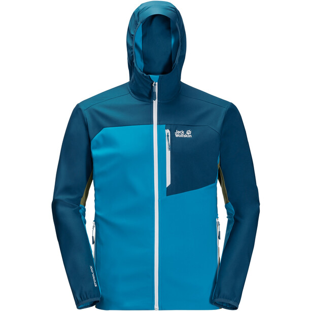 Jack Wolfskin Eagle Peak II Softshell Jacket Men, blue jewel