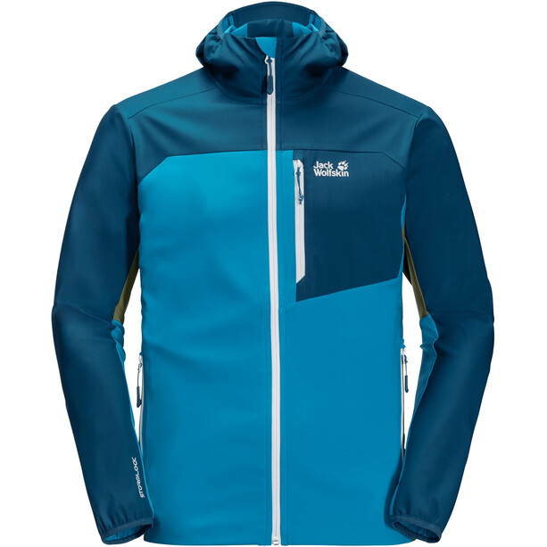 Jack Wolfskin Eagle Peak II Softshell Jacket Men, blue jewel