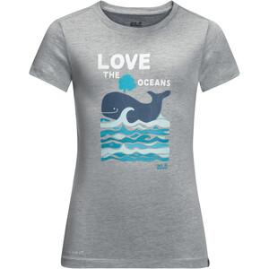 Jack Wolfskin Ocean T-Shirt Kinder grau grau