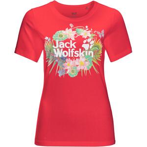 Jack Wolfskin Paradise Logo T-Shirt Damen rot rot