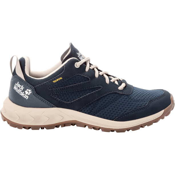 Jack Wolfskin Woodland Texapore Low Shoes Women, sininen/beige