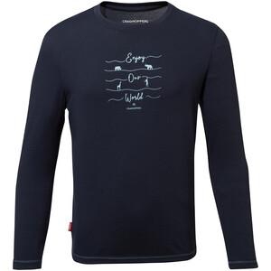Craghoppers NosiLife Jago Long Sleeved Shirt Boys, bleu bleu
