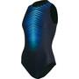 speedo Digital Placement Hydrasuit Damen black/light adriatic/blue flame