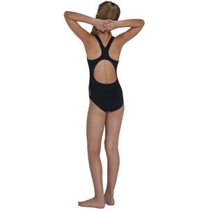 speedo Digital Placement Splashback Badeanzug Mädchen kaliedo black/acid kaliedo black/acid
