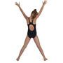 speedo Plastisol Placement Muscleback Swimsuit Girls, noir