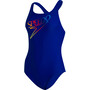 speedo Retro Logo Medalist Swimsuit Women, sininen