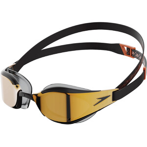 speedo Fastskin Hyper Elite Mirror Brille black/dragon fire/gold black/dragon fire/gold