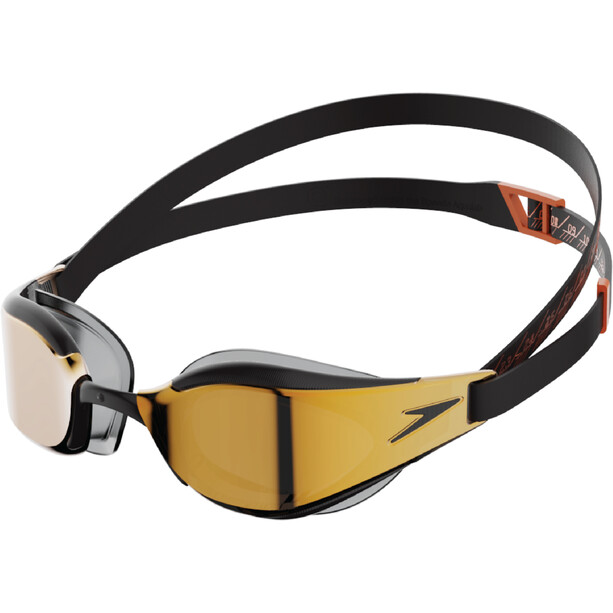 speedo Fastskin Hyper Elite Mirror Brille black/dragon fire/gold