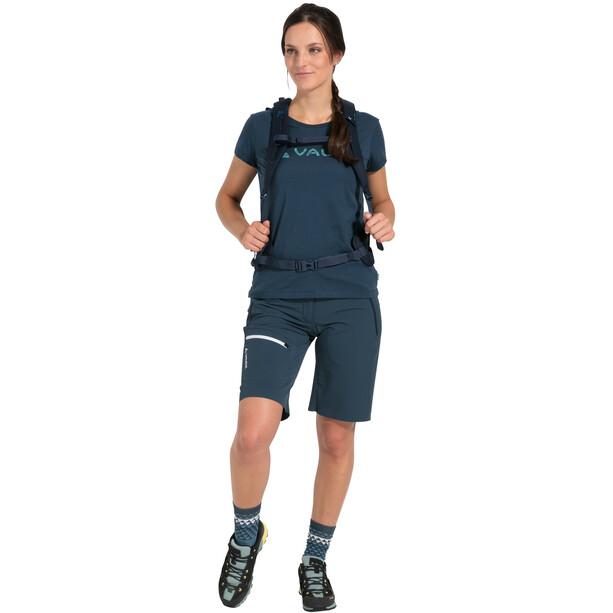 VAUDE Logo Shirt Damen blau