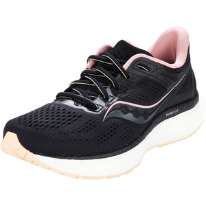 saucony Hurricane 23 Schuhe Damen schwarz schwarz