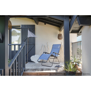 Lafuma Mobilier RSX Clip Relax Chair, sininen/valkoinen sininen/valkoinen