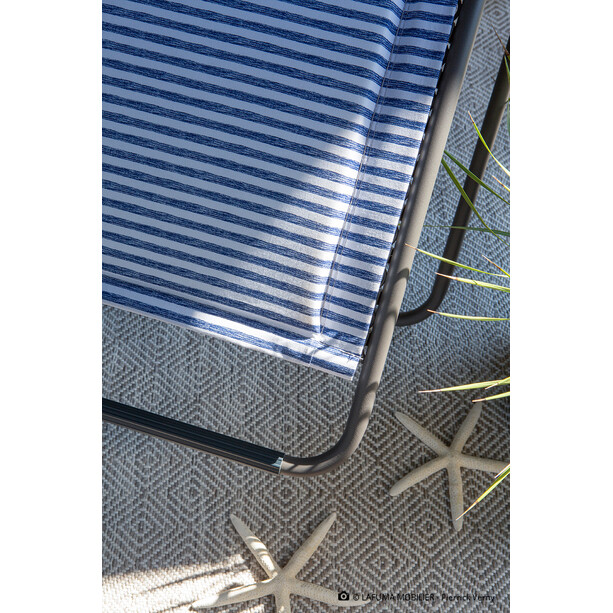 Lafuma Mobilier RSX Clip Relax-Stuhl blue stripes
