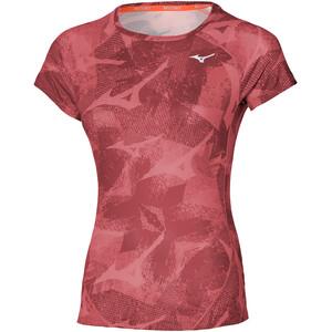 Mizuno Aero T-Shirt Damen rot rot