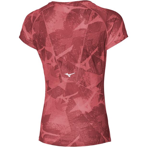 Mizuno Aero T-Shirt Damen rot