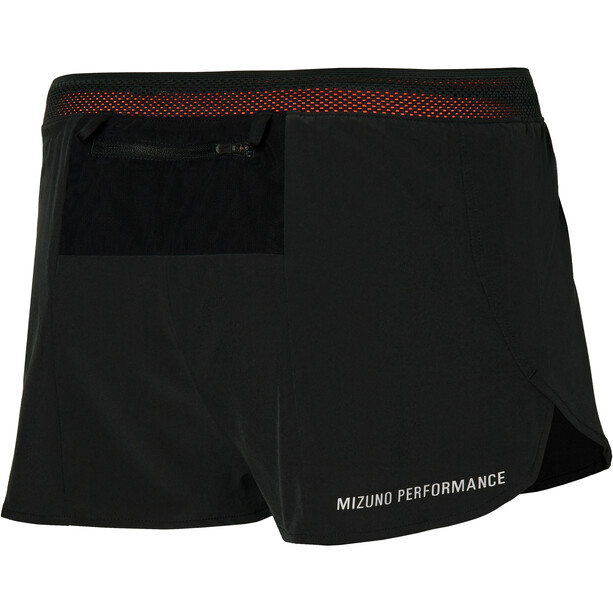 Mizuno Aero Split 1.5 Shorts Herren black/ignition red