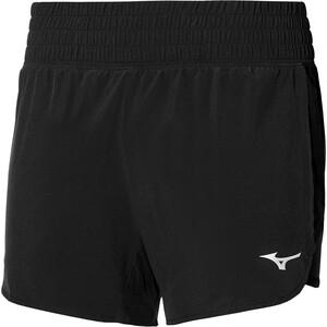 Mizuno ER 4.5 2in1 Shorts Damen schwarz schwarz