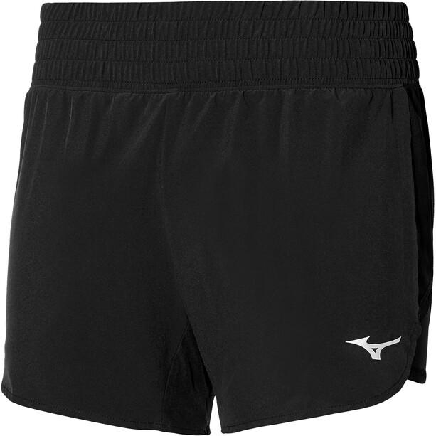 Mizuno ER 4.5 2in1 Shorts Damen schwarz