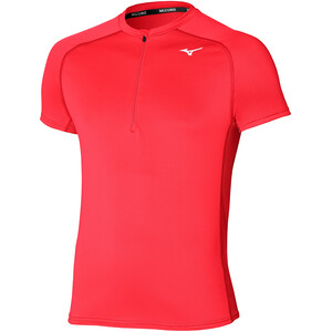 Mizuno ER Trail Half Zip T-Shirt Herren ignition red ignition red
