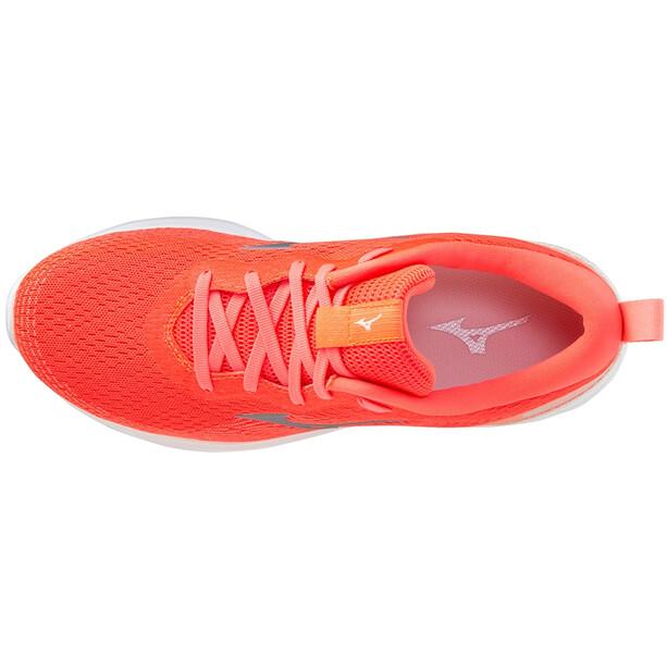Mizuno Wave Revolt Schuhe Damen orange/weiß