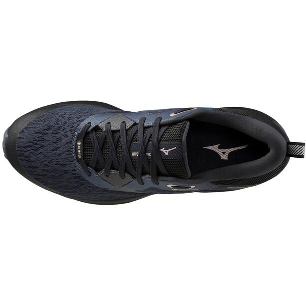 Mizuno Wave Rider GTX 2 Shoes Men, india ink/black/platinum gold