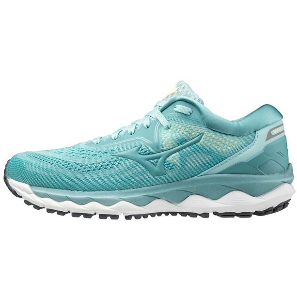 Mizuno Wave Sky 4 Schuhe Damen eggshell blue/dusty/dusty